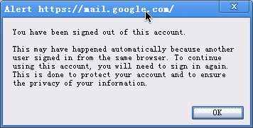 Alter of Chrome Frame When Logon Gmail Account