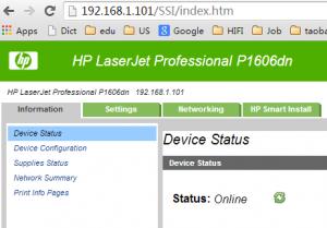 Install HP LaserJet Professional P1606dn as Network Printer