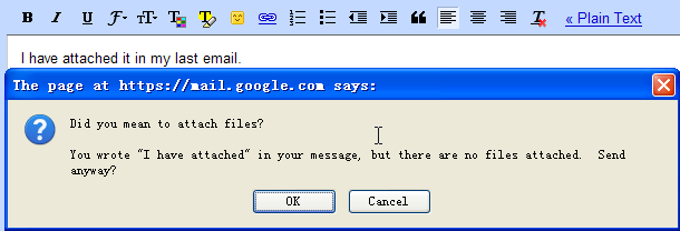 Gmail alert